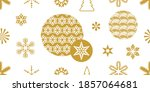 xmas print with ornate circles... | Shutterstock .eps vector #1857064681
