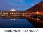 liverpool albert dock at night | Shutterstock . vector #185709014