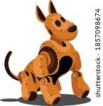 dog steampunk robot. unusual... | Shutterstock .eps vector #1857098674