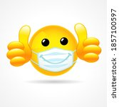 emoji smile face with... | Shutterstock .eps vector #1857100597