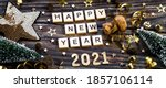 Banner.happy New Year 2021. A...