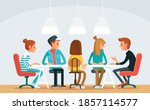 coworking shared office space...   Shutterstock .eps vector #1857114577