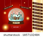 christmas sale background.... | Shutterstock .eps vector #1857132484