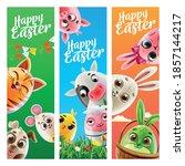 set of graphics for easter... | Shutterstock .eps vector #1857144217