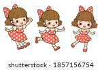 illusration of cute girl many... | Shutterstock .eps vector #1857156754
