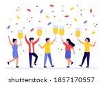 group of people welcoming... | Shutterstock .eps vector #1857170557