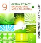 mega set of green abstract... | Shutterstock .eps vector #185717639