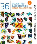 mega collection of geometric... | Shutterstock .eps vector #185717645