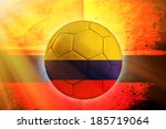 soccer ball with columbian flag ... | Shutterstock . vector #185719064