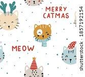 Cute Christmas Seamless Pattern ...