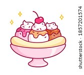 cute cartoon banana split... | Shutterstock .eps vector #1857201574