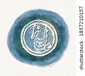 Watercolor Porthole Seahorse...