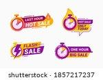last hour offer badge. sale... | Shutterstock .eps vector #1857217237