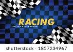 waving checkered flag along the ...   Shutterstock .eps vector #1857234967