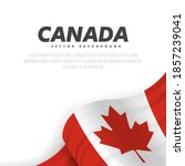 banner with waving canadian... | Shutterstock .eps vector #1857239041