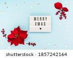 Merry Xmas Text On White...