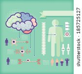 infographics of healthcare... | Shutterstock .eps vector #185725127