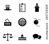 vector black electiion icons... | Shutterstock .eps vector #185729309