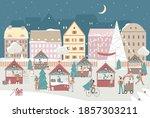 Night Christmas City Street...