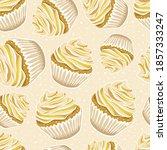 seamless pattern with vanilla... | Shutterstock .eps vector #1857333247