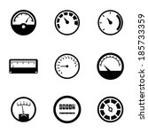 Vector Black Meter Icons Set O...