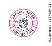 special offer label  badge ... | Shutterstock .eps vector #1857339421