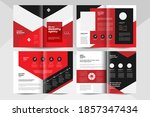 black and red business brochure ... | Shutterstock .eps vector #1857347434