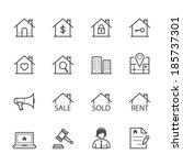 real estate icons | Shutterstock .eps vector #185737301