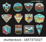 camping adventure sticker... | Shutterstock .eps vector #1857373327