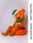 Orange costume growth bear. toy ...
