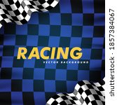 waving checkered flag along the ... | Shutterstock .eps vector #1857384067