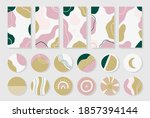set of story templates and...   Shutterstock .eps vector #1857394144