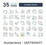 cleaning service. collection of ... | Shutterstock .eps vector #1857404437