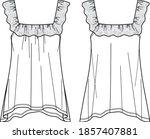 summer women top drawing  tank... | Shutterstock .eps vector #1857407881