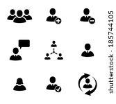 vector black office people... | Shutterstock .eps vector #185744105
