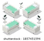 isometric hospital bed isolated.... | Shutterstock .eps vector #1857451594