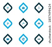 sun icons colored set with... | Shutterstock .eps vector #1857499624