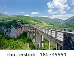 montenegro . the highest bridge ... | Shutterstock . vector #185749991