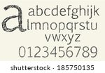 sketch alphabet lowercase | Shutterstock .eps vector #185750135