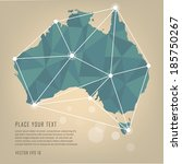 australia vector map | Shutterstock .eps vector #185750267