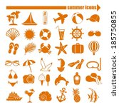 summer icons set | Shutterstock . vector #185750855