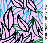 black leaf illustration. blue... | Shutterstock . vector #1857516064
