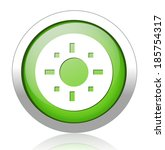 target icon green glass | Shutterstock . vector #185754317