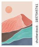 mid century modern minimalist... | Shutterstock .eps vector #1857545761
