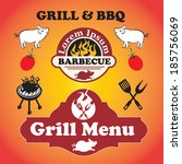 grill and barbecue signs ...   Shutterstock . vector #185756069