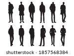 fashion illustration of the man | Shutterstock .eps vector #1857568384