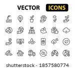Set Of Ecology Icons  Vector...