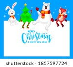 funny christmas characters...   Shutterstock .eps vector #1857597724
