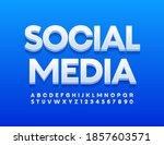 vector bright logo social media....   Shutterstock .eps vector #1857603571