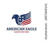 american hawk eagle patriotic...   Shutterstock .eps vector #1857604141